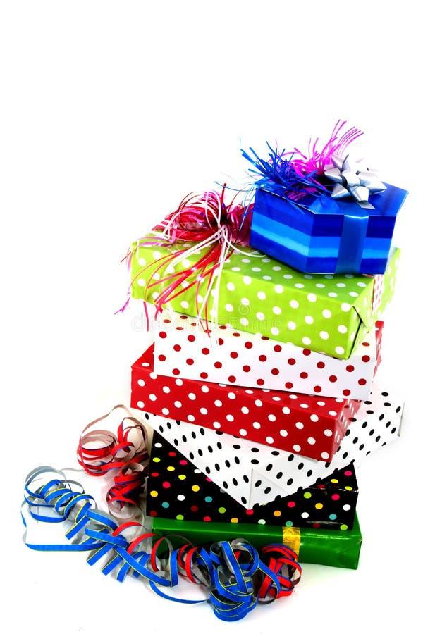 Geschenke an der Party stockfoto