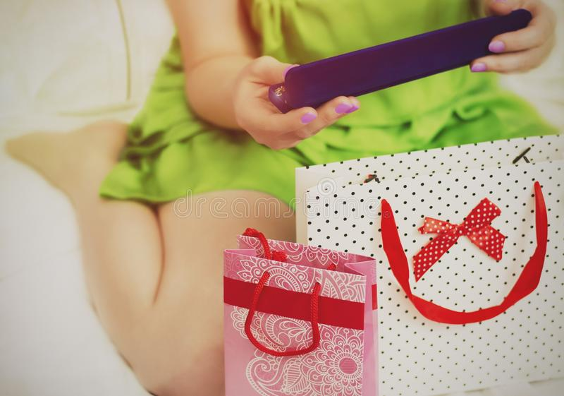 Geschenke für den Feiertag lizenzfreies stockfoto