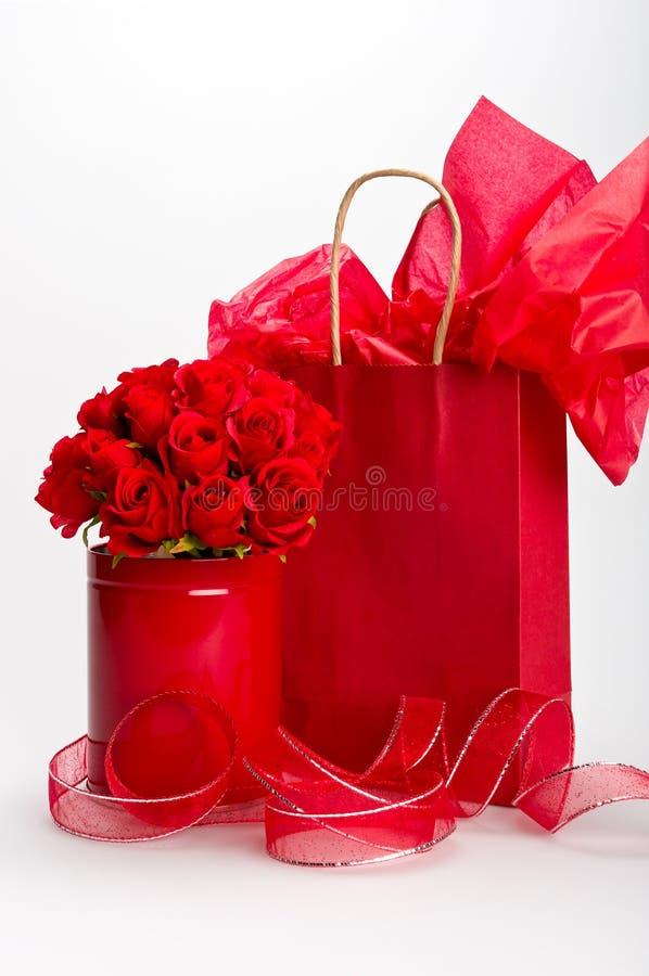 Geschenke für Str.-Valentinsgruß stockfotos