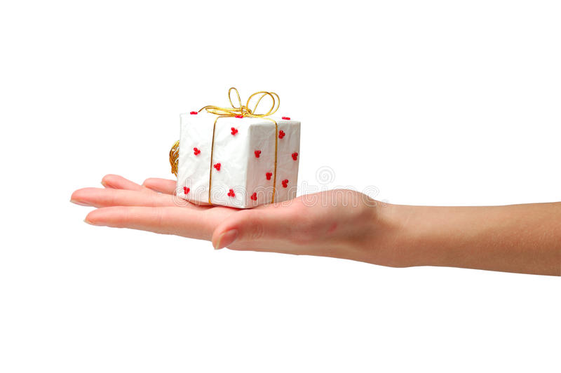 Geschenkgeben lizenzfreies stockbild