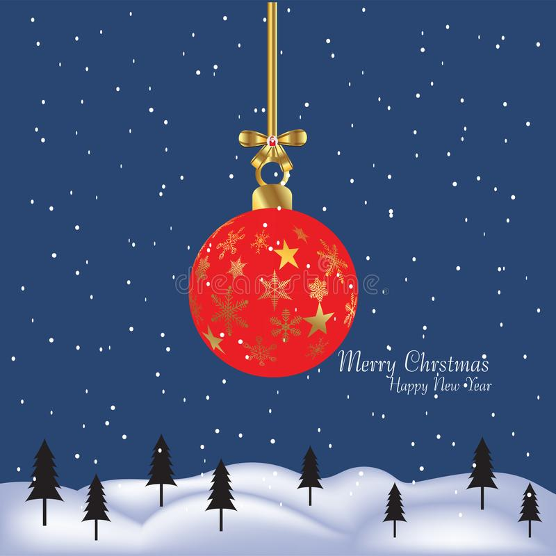 Geschenkgeschenk der frohen Weihnachten und des guten Rutsch ins Neue Jahr vektor abbildung