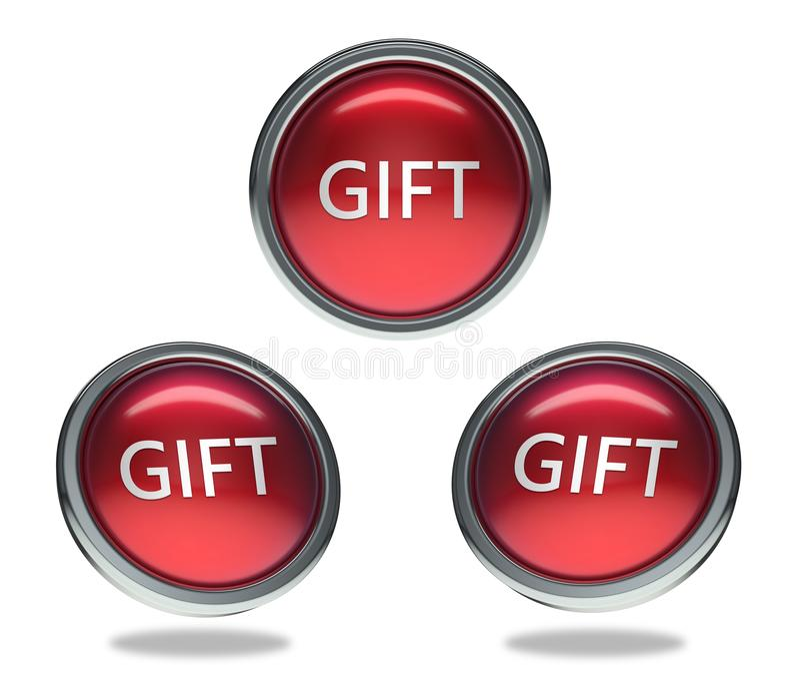 Geschenkglasknopf lizenzfreie abbildung