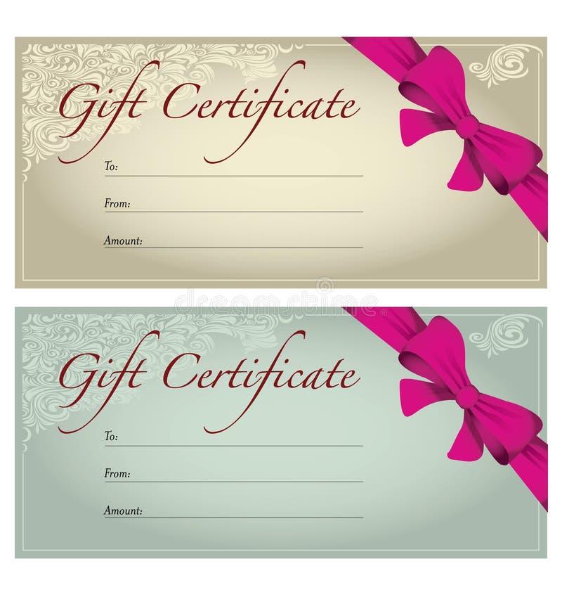 Geschenkgutschein stock abbildung