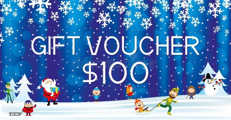 Download Geschenkgutschein Mit Santa Claus Vektor Abbildung - Illustration von plan, markt: 96927606