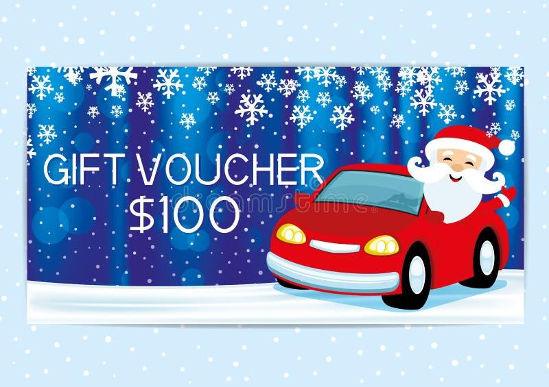 Download Geschenkgutschein Mit Santa Claus Vektor Abbildung - Illustration von einladung, kupon: 96927625