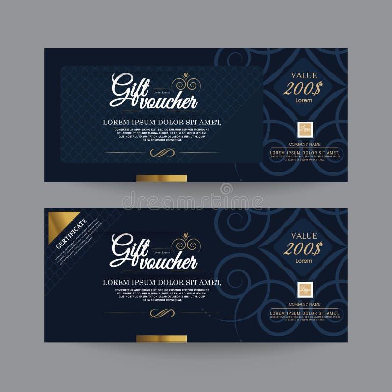 Geschenkgutschein-Premier Color lizenzfreie abbildung