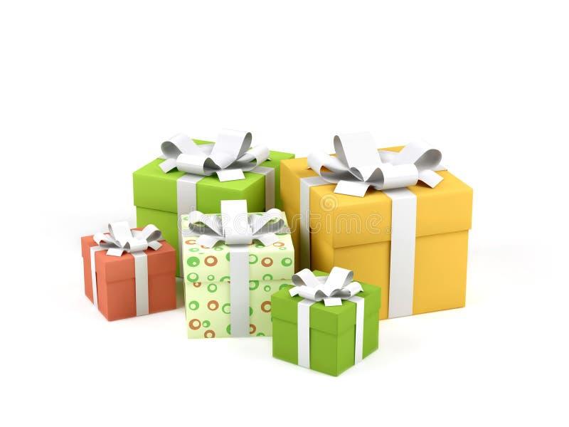 Geschenkkästen. lizenzfreie abbildung