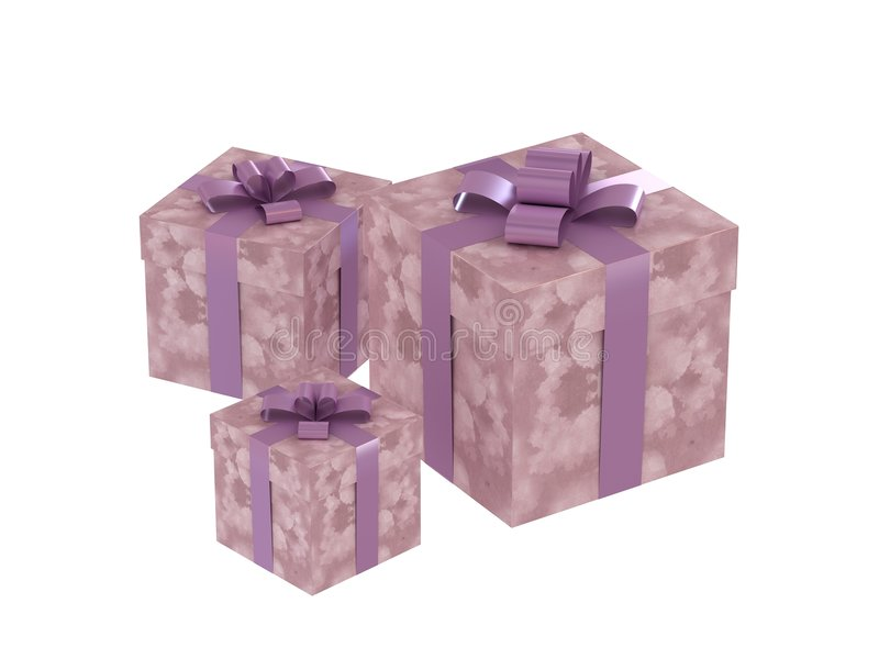 Geschenkkästen stock abbildung