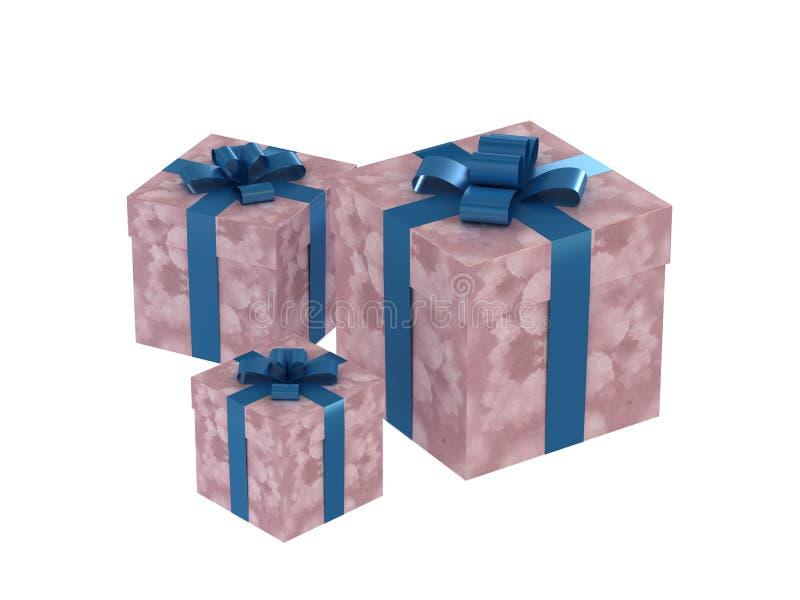 Geschenkkästen lizenzfreie abbildung
