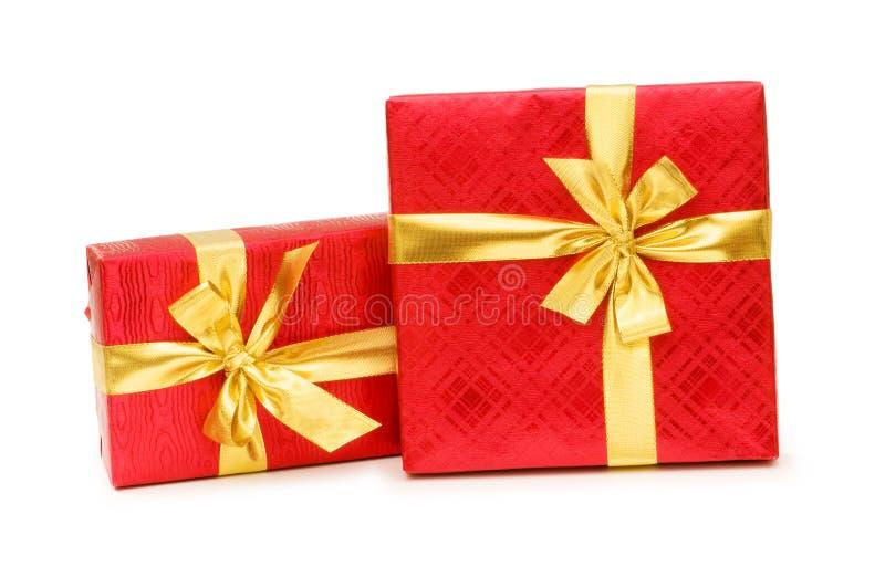 Geschenkkästen getrennt stockfotos