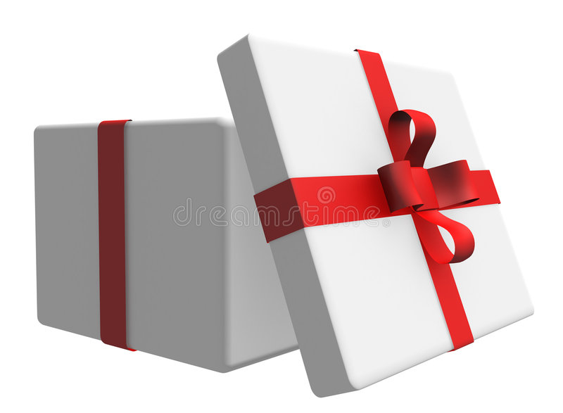 Geschenkkästen getrennt auf Weiß lizenzfreie abbildung
