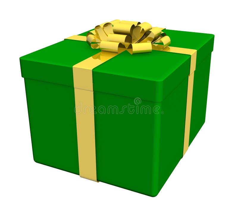 Geschenkkästen getrennt auf Weiß stock abbildung
