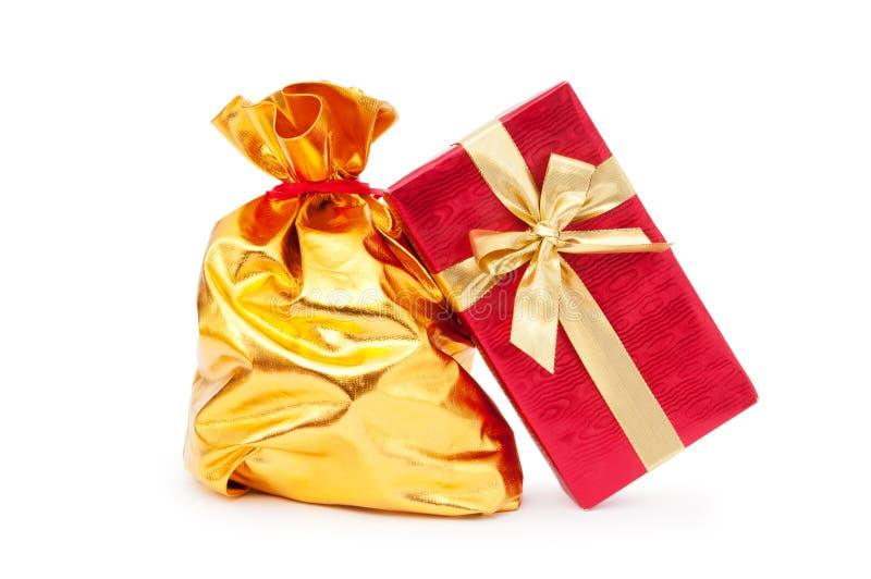 Geschenkkästen und -säcke lizenzfreies stockbild