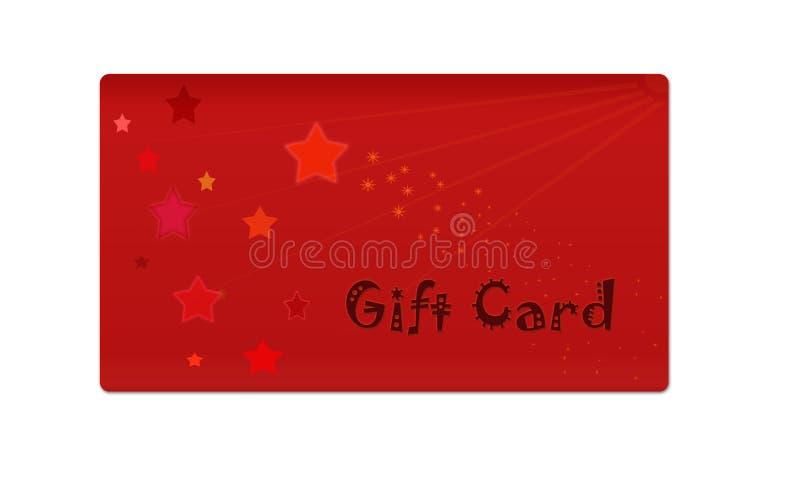 Geschenkkarte lizenzfreie stockfotografie