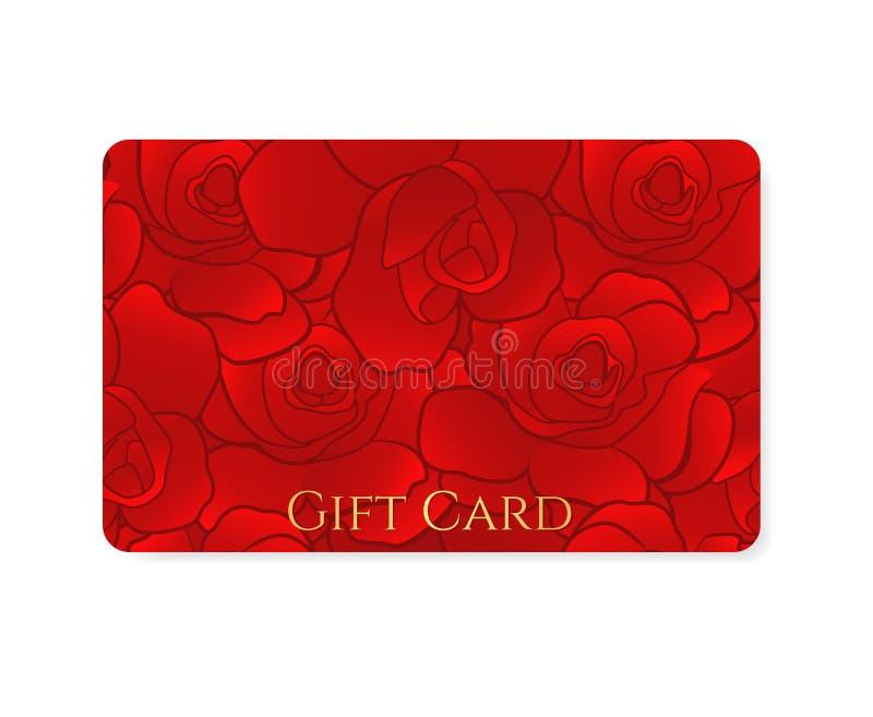 Geschenkkarte/Rabatt-Karte/Visitenkarte. Blume lizenzfreie abbildung