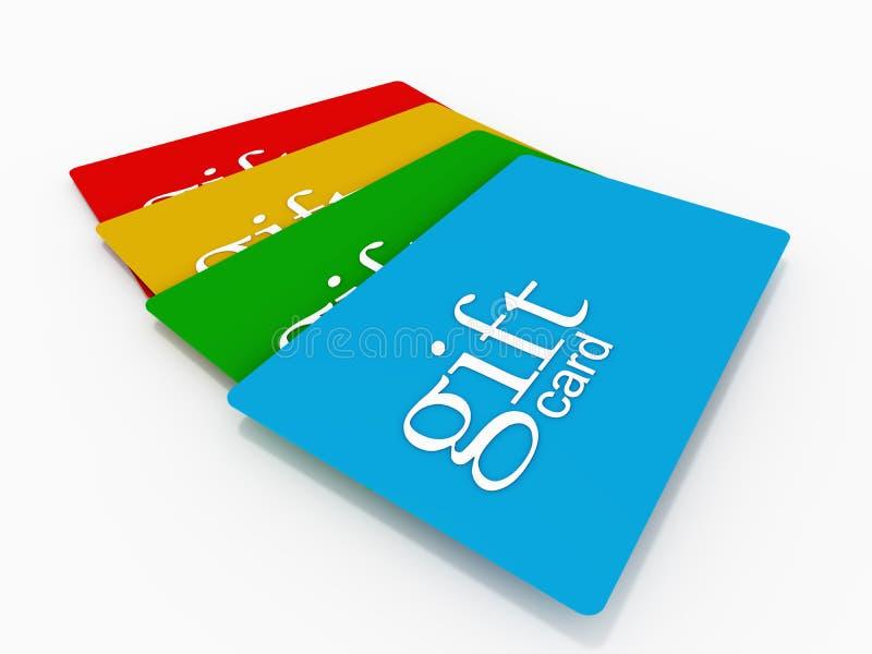 Geschenkkarten lizenzfreie abbildung