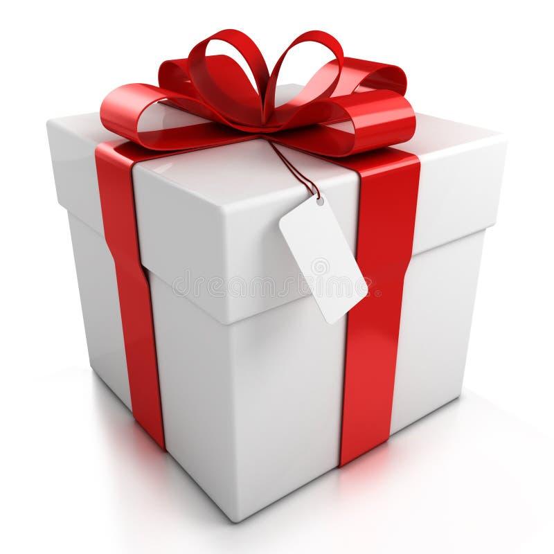 Geschenkkasten über weißem Hintergrund stock abbildung