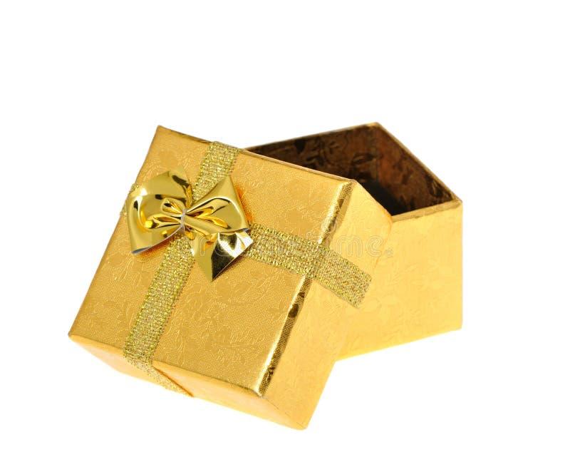 Geschenkkasten geöffnet stockfotos