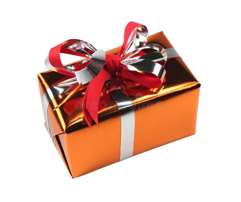 Geschenkkasten getrennt lizenzfreies stockbild
