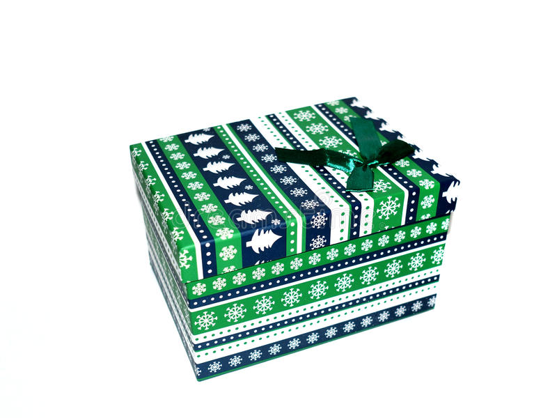 Geschenkkasten getrennt auf weißem Hintergrund lizenzfreie stockbilder