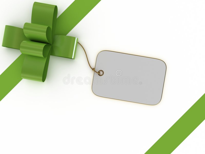 Geschenkkasten mit einem Kennsatz stock abbildung