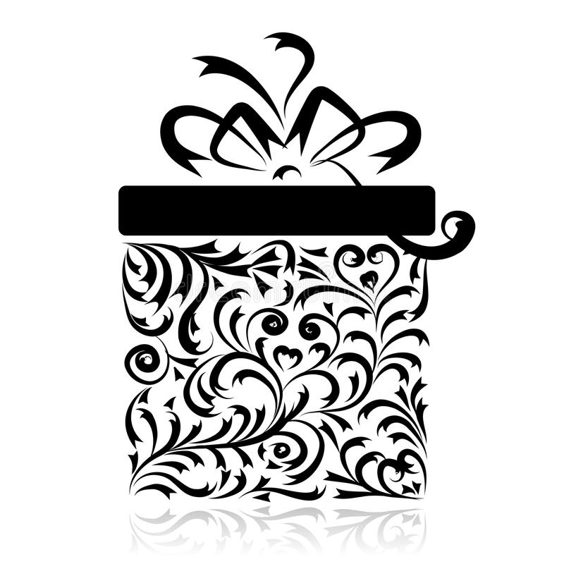 Geschenkkasten stilisiert für Ihre Auslegung vektor abbildung