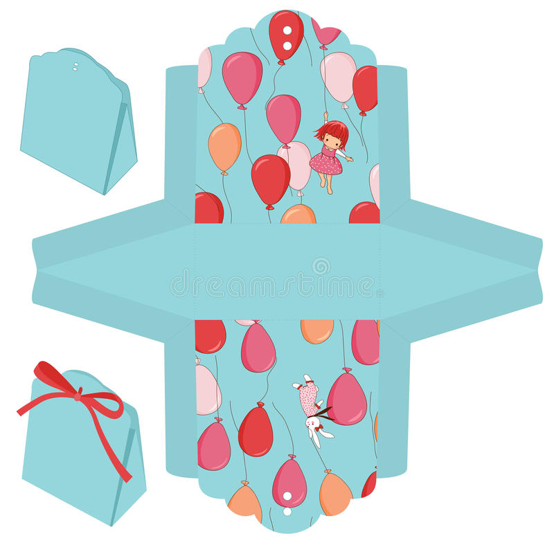 Geschenkkastenschablone vektor abbildung