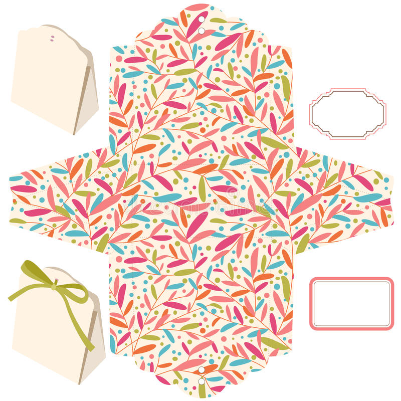 Geschenkkastenschablone stock abbildung