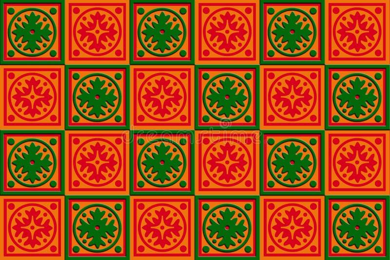 Geschenkkastenverpackung rot, Orange u. Grün