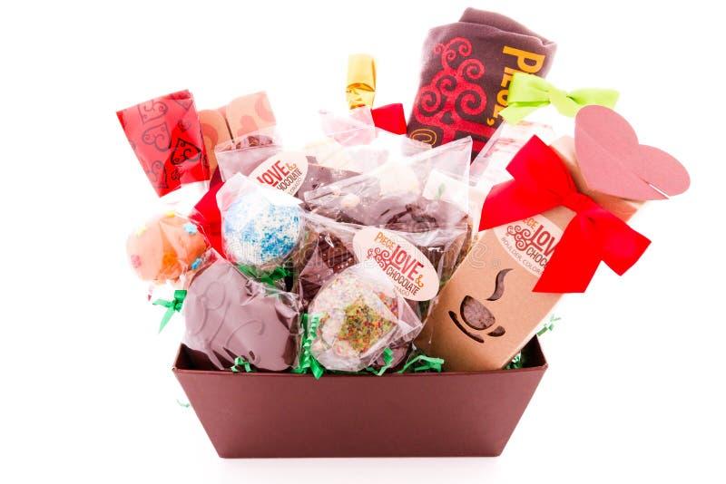 Geschenkkorb lizenzfreies stockfoto