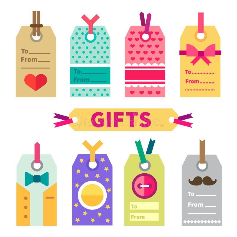 Geschenksatz von Aufklebern und von Postkarte