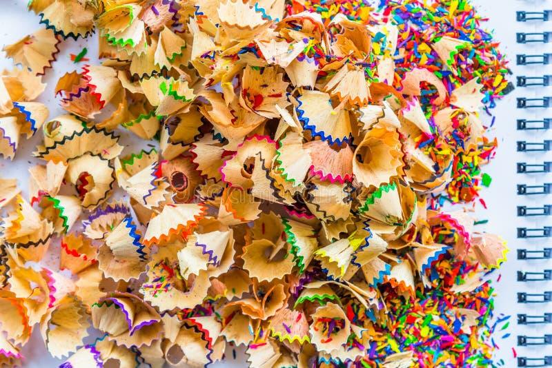 Gescherpt close-upbeeld van potloodkleur royalty-vrije stock foto's