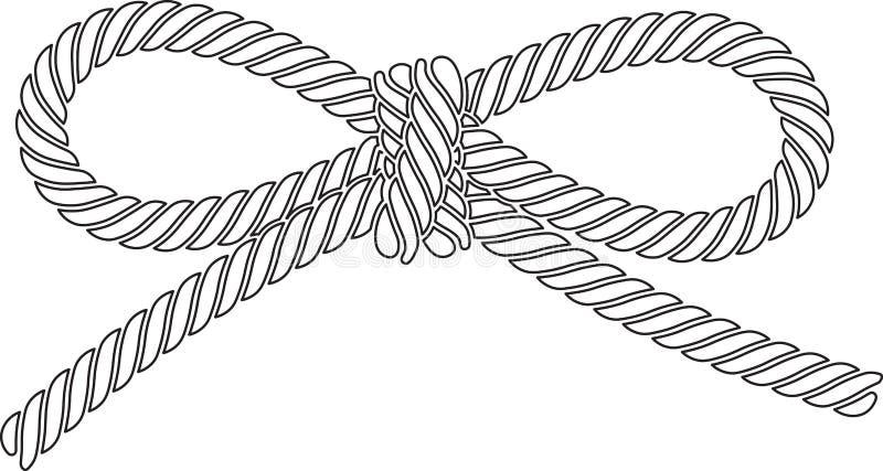 Geschetste vectordiekabelboog op een witte achtergrond wordt geïsoleerd stock illustratie