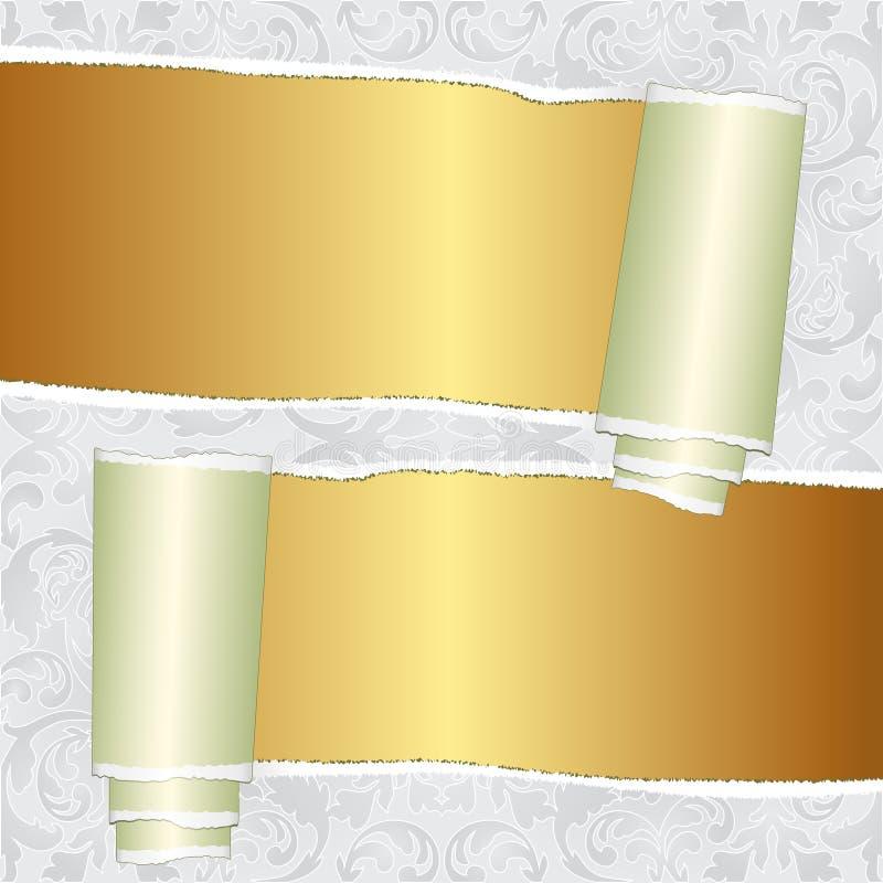 Gescheurd Behang Royalty-vrije Stock Fotografie