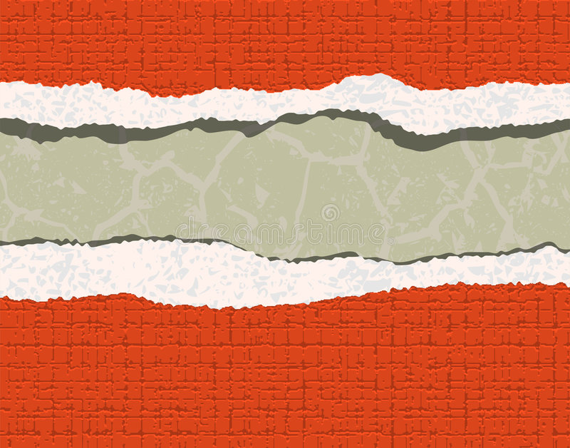 Gescheurd behang vector illustratie