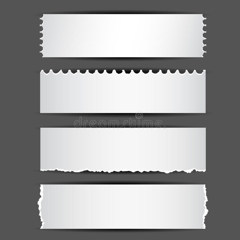 Gescheurd Document vector illustratie