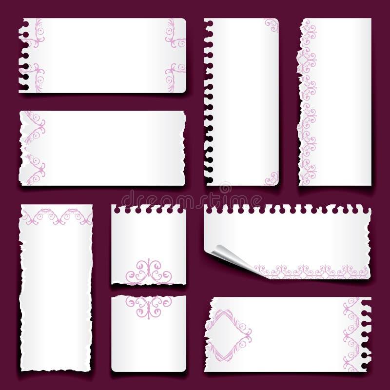 Gescheurd document royalty-vrije illustratie