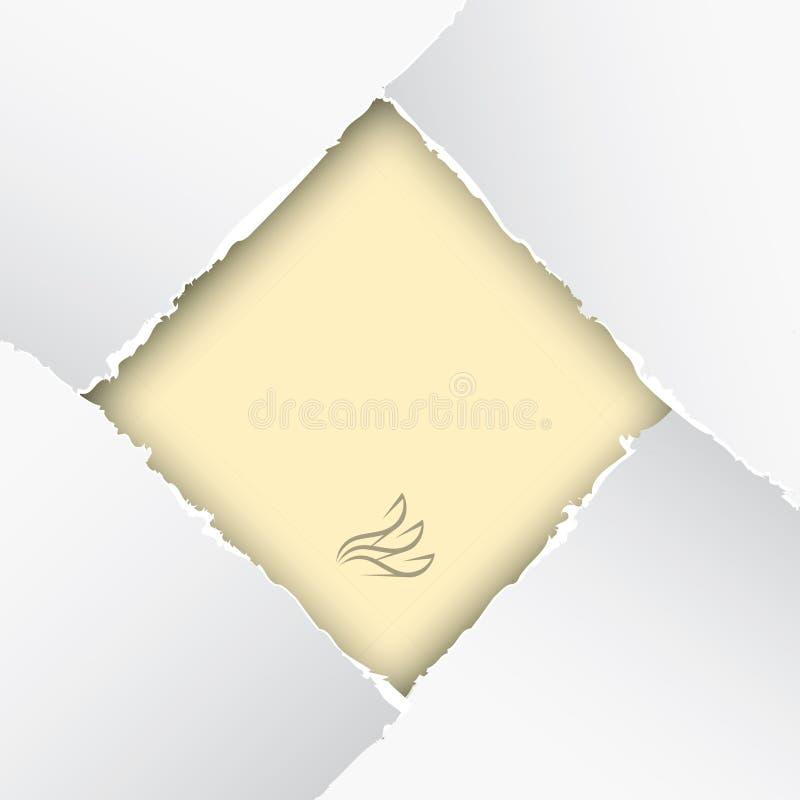 Gescheurd document stock illustratie