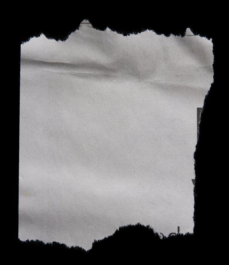 Gescheurd Document stock afbeelding