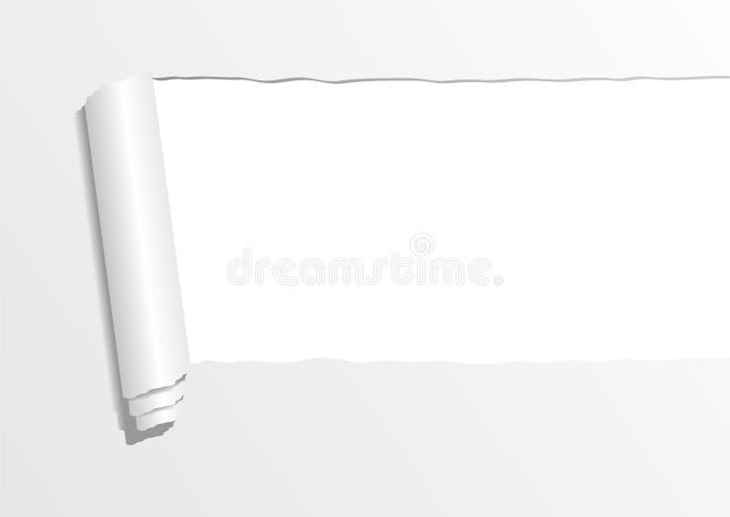 Gescheurd document blad vector illustratie