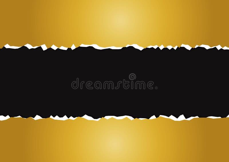 Gescheurd document goud royalty-vrije illustratie