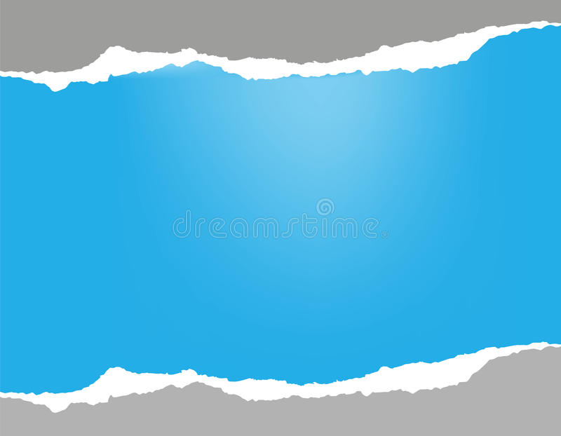 Gescheurd Document Hemel-blauwe achtergrond royalty-vrije illustratie