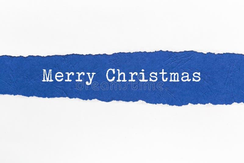 Gescheurd document - Kerstmis stock fotografie