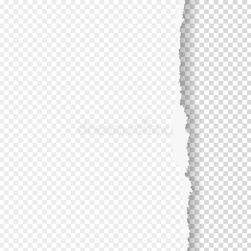 Gescheurd document met gescheurde rand royalty-vrije illustratie