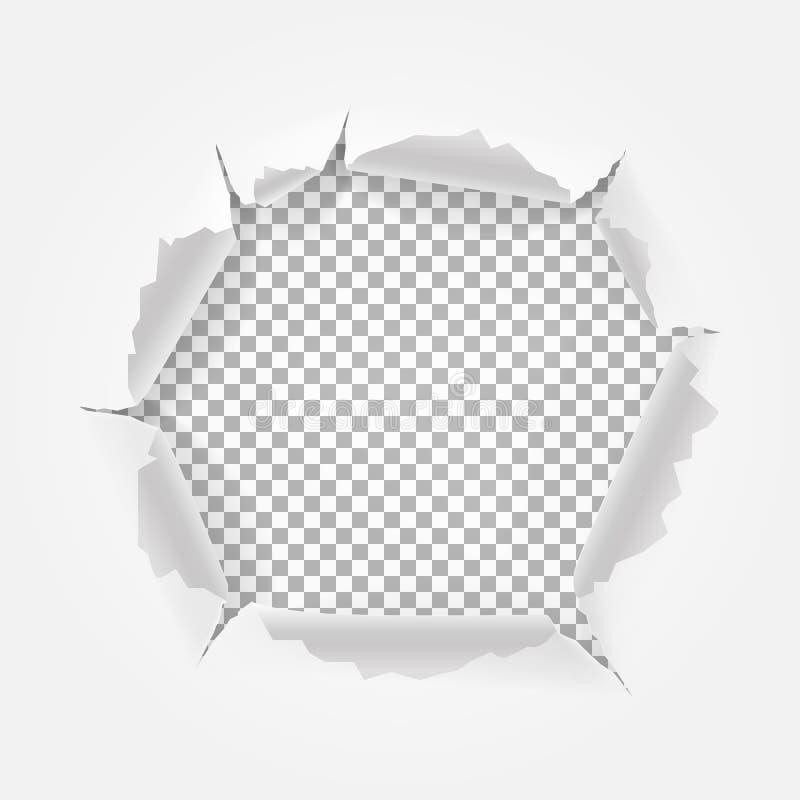 Gescheurd Document met ruimte voor tekst vector illustratie