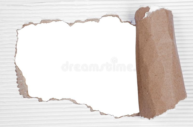 Gescheurd document met transparante achtergrond stock illustratie