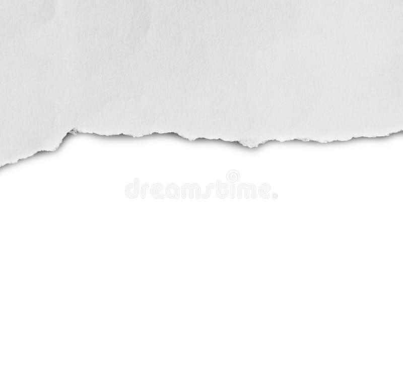 Gescheurd document, Stuk van gescheurd document royalty-vrije stock afbeelding