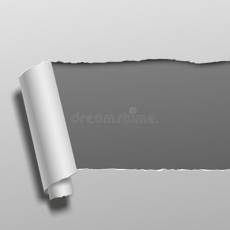 Gescheurd document teamplate stock illustratie