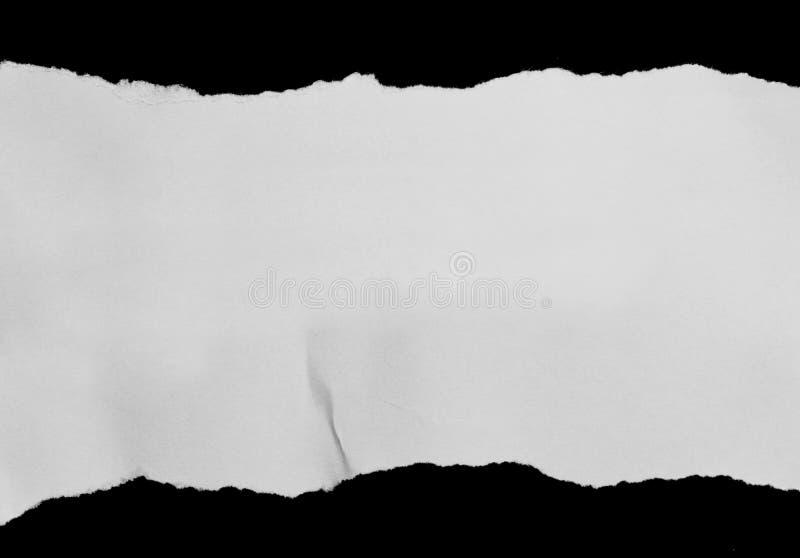 Gescheurd en Gescheurd document stock afbeelding