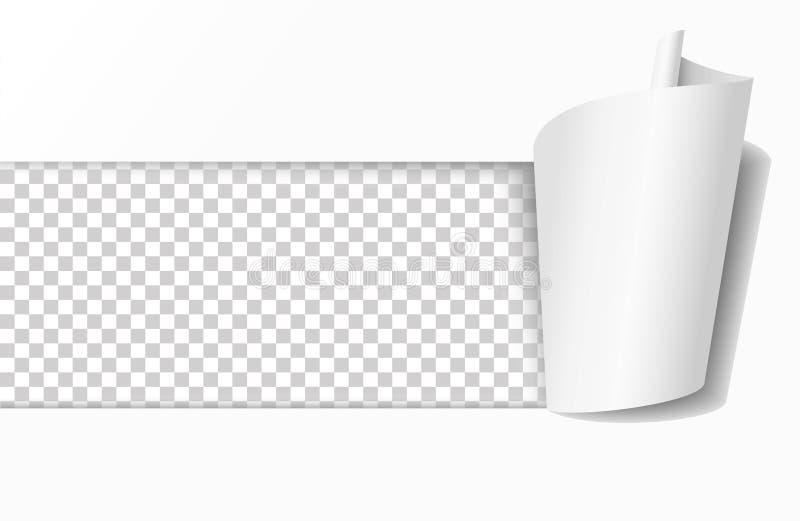 Gescheurd gat in Witboek Realistische vectorillustratie stock illustratie